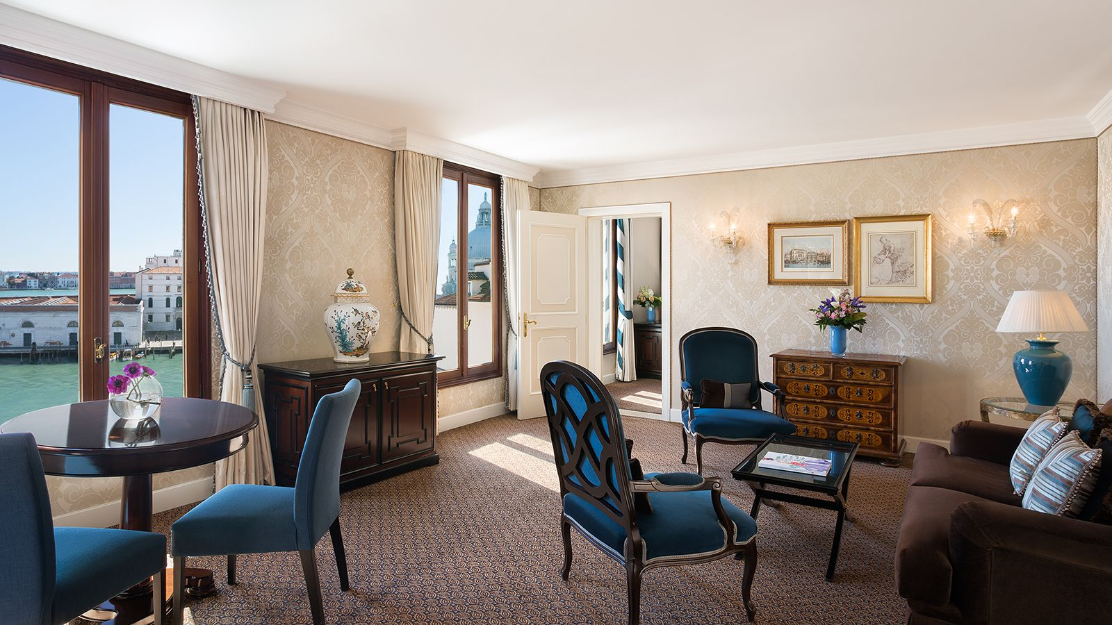 Image of the Living Room of the Luxury Suite at The Westin Europa & Regina, Venice