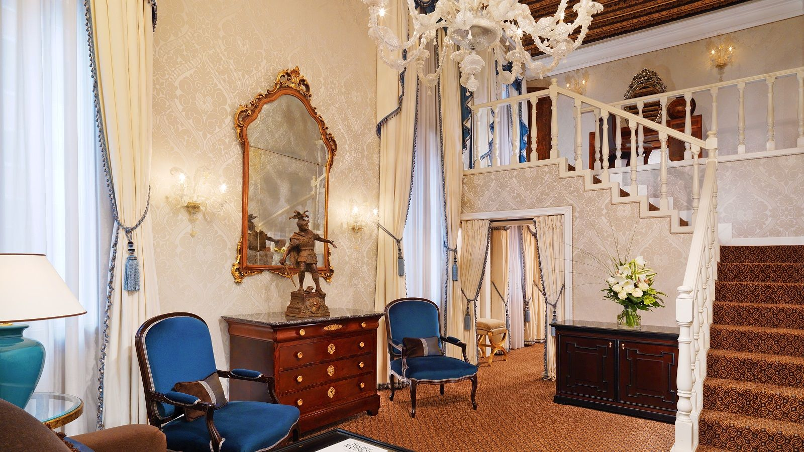 Image of the One Bedroom Deluxe Suite Living area at The Westin Europa & Regina, Venice